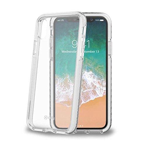 Preisvergleich Produktbild Celly HEXAGON900WH Hexagon Backcase für Apple iPhone X, Weiß