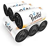 Amazon Brand - Presto! Oxo-Biodegradable Garbage Bags, Medium (19 x 21 inches) - 30 bags/roll (Pack of 6)