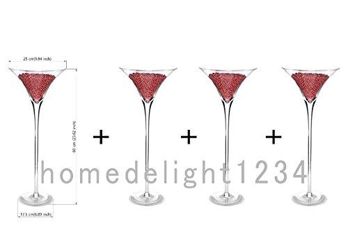 4 X 60cm Martini Glass Vase Table Centrepiece Wedding Decorations