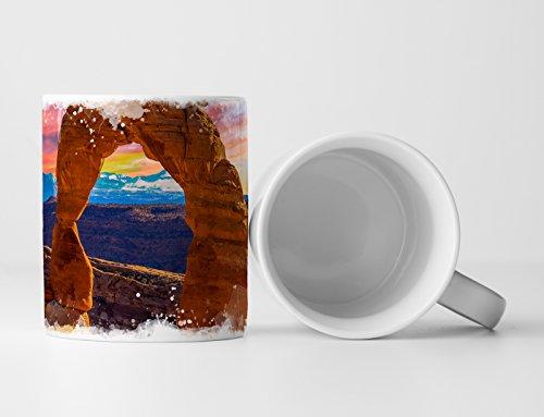EAU ZONE Fotokunst Tasse Geschenk Landschaftsfotografie – Arches Nationalpark Utah USA
