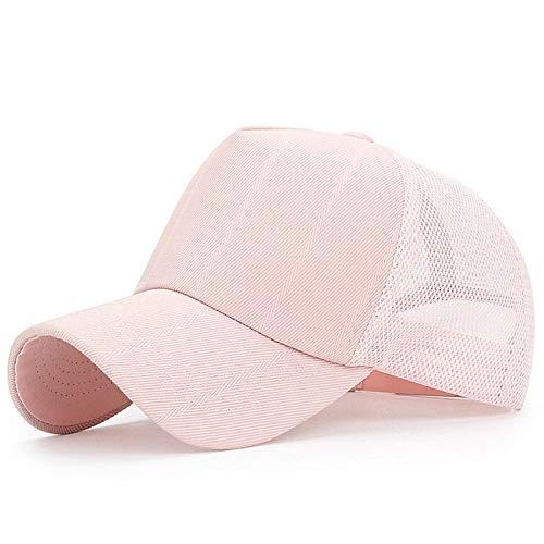 Tourist-mesh-hut (Solide Sommer Mesh Baseball Cap für Männer Frauen schwarz weiß Mesh Papa Hut Knochen Masculino Casquette Homme Trucker Cap @ Pink)