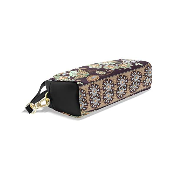 Hunihuni Estuche de lápices indio étnico floral de gran capacidad resistente piel sintética suministros de papelería con…