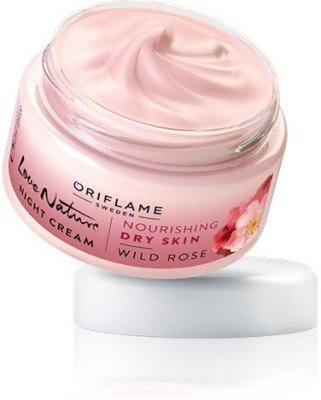 Oriflame Love Nature Night Cream Wild Rose 50g  available at amazon for Rs.177