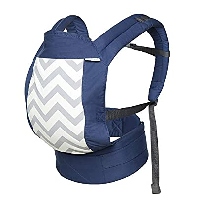 Baby Carrier Backpacks Ergonomic Soft Breathable Infant Carrier, Adjustable Safe Baby Carrier Comfortable Cotton for All Season, Adapt to Nursing Newborn, Infant & Toddler (8lbs- 32lbs)-Blue