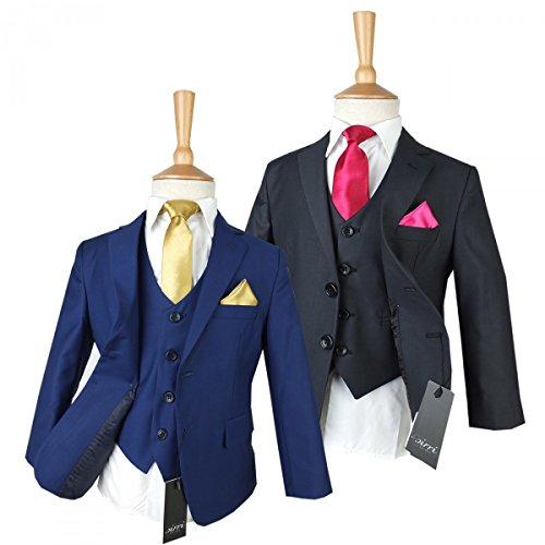 Jungen Anzug im 3 oder 5 Stück, Hochzeit, Kommunion Anzüge, dunkel grau und Marine Blau Jungen Anzüge