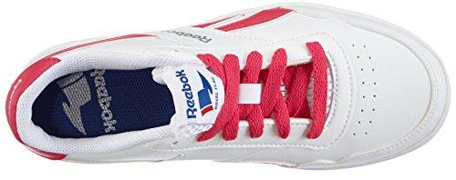 Reebok Royal Effect, Sneakers Basses Mixte Enfant Blanc (white/pink Fusion/silver)