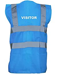 Visitor, Printed Hi-Vis Vest Waistcoat - Royal Blue/White XL