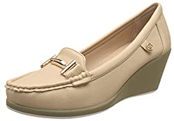 CL By Carlton London Womens Rayna Beige Loafers and Moccasins - 6 UK/India (39 EU)