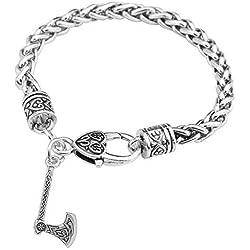 Teamer - Pulsera con amuleto de hacha con nudo irlandés, símbolo vikingo, eslavo