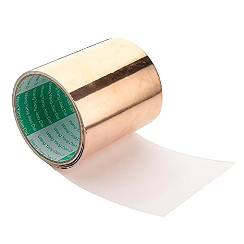 ILS - Copper Foil Tape 4 Inch / 10cm X 10ft / 3 Meter 1 Roll Conductive Self Adhesive Shielding