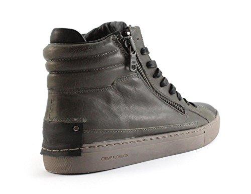 CRIME London 11337a17b, Sneaker a Collo Alto Uomo Verde (Oliv)
