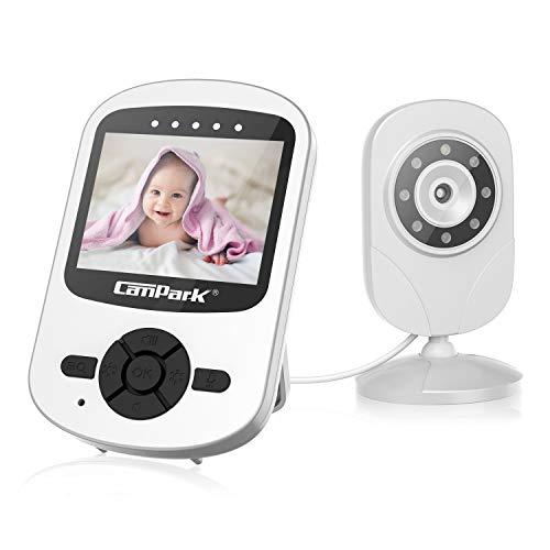 """Campark Babyphone mit Kamera 2.4 GHz Video Baby Monitor VOX Funktion Temperaturüberwachung Wireless Digitalkamera Nachtsicht 2 Way Talkback System 2.4""""LCD"""