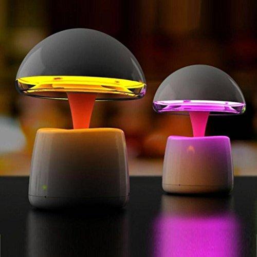 Notebook-sicherheit-schrank (sunnymi Smart Atmosphäre Lampe LED Lampe Bluetooth Lautsprecher Wireless Fernbedienung für Smartphone Tablette Laptop Pilz Typ bunte Szene GESCHENK Für LIEBE (Pilze, Weiß))