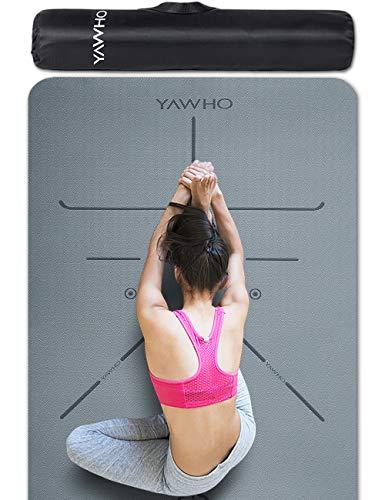 YAWHO Colchoneta de Yoga Esterilla Yoga Material medioambiental TPE,Modelo:183cmx66cm...