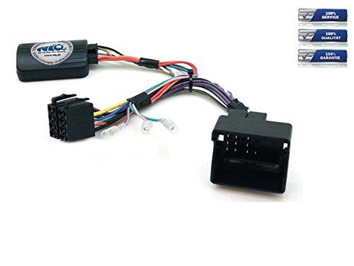 NIQ CAN-BUS Lenkradfernbedienungsadapter geeignet für KENWOOD Autoradios, kompatibel mit Peugeot 207 / 208 / 307 / 407 / 807 / 308 / 3008 / 5008 / Partner / Expert / RCZ