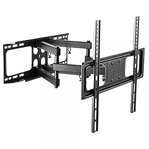 Wandhalterung für TV Monitor Bildschirm Fernseher Monitorhalterung Fernseherhalterung Halter neigbar schwenkbar max. Vesa-Norm 400x400 für 32-55 Zoll LCD LED 3D TFT Plasma