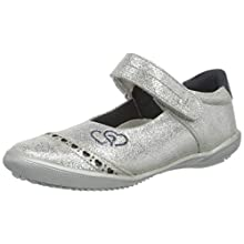 s.Oliver Girls' 5-5-32601-24 Closed Toe Ballet Flats, Silver (Silver 941), 13 UK