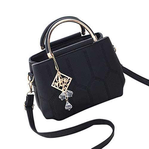 Lady Bag Charme (JAGENIE Damen Lady Leder Handtasche Schultertasche Tote Handtasche Messenger Satchel Top Griff Taschen)