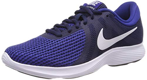 Nike Revolution 4 EU, Scarpe da Running Uomo, Midnight Navy/White-Deep Royal Blue-Black, 45.5