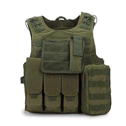 YANODA Gilets Tactiques Gilet Tactique Militaire Molle Combat Assault Plate Carrier Tactical Vest 10 Couleurs CS Vêtements De Chasse en Plein Air Gilet, Olive Drab