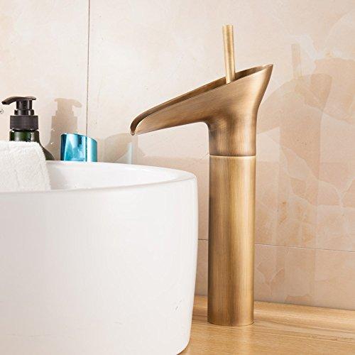 SQDSFLUC-rubinetti da cucina in rame antico rubinetto rubinetto orientabile retrò Rubinetto Rubinetto lavabo singolo foro rubinetto bacino d'arte il rubinetto sul bacino rubinetto acqua calda e rubinetto fredda,l'altezza del vetro