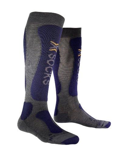 X-socks comfort calzini tecnici da sci, multicolore, unisex, funktionssocke ski comfort, multicolore - gris/bleu