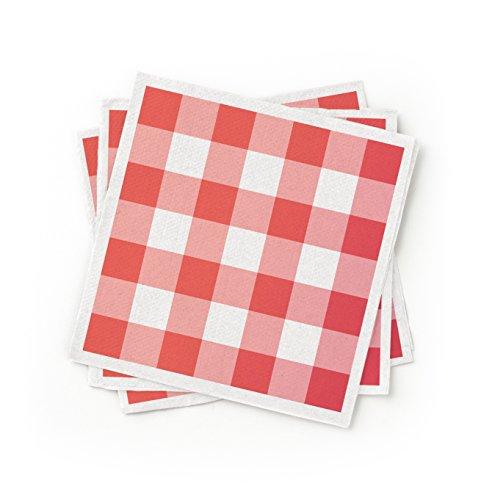 100% recyceltem Papier Cocktail Serviette rot, 200Stück