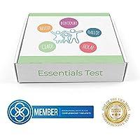 Prueba de Alergias principales | Kit de prueba de intolerancia alimenticia | Nueces, gluten, lactosa, polen |.
