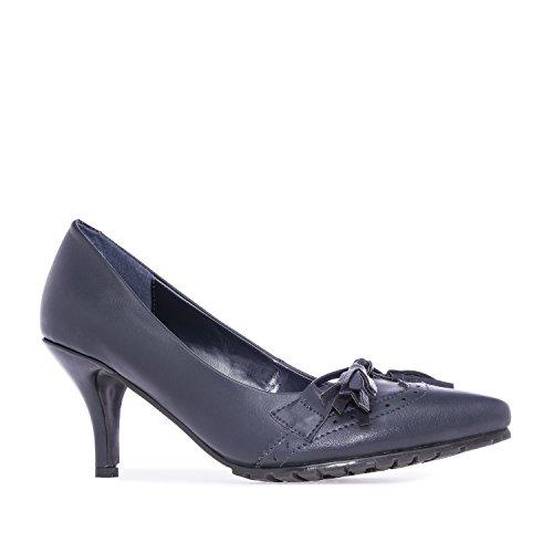 Andres Machado.AM5106.Salons en Soft style Oxford. Petites et Grandes Pointures.32/35-42/45. Pour Femmes Bleu