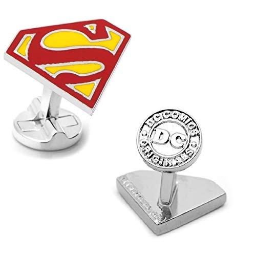 DC Comics Superman Manschettenknöpfe Farbe Superheld Hochzeit + Geschenkbox