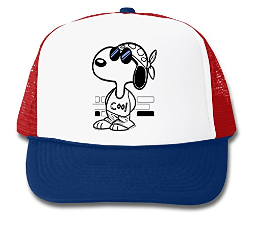 LukeTee Snoopy Joe Cool Blue Sunglasses Unisex Truckerkappe One Size