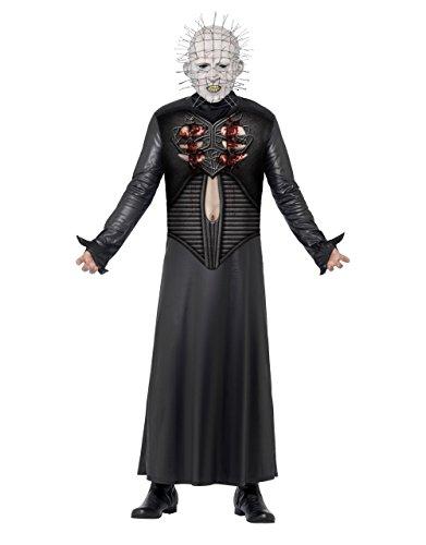 ostüm Herren-Kostüm, Gr. M, Brustumfang: 96,5 cm, Taille 101.60 32- 86.36 cm 83.18 cm; Innennaht (Pinhead Hellraiser Kostüm)