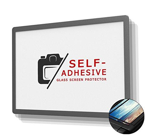 DolDer Fujifilm X-H1 Displayschutz Glas - LCD-Echtglas-Protektor Glas Displayschutzfolie für Fujifilm X-H1-6 Schicht-Prinzip Plus Schutzrahmen (Made by Larmor) EINWEG