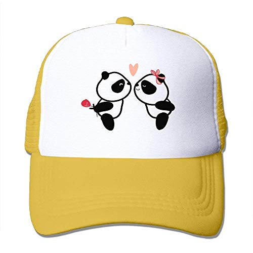 Voxpkrs Netter Panda in der Liebe justierbare Unisexhüte Hip Hop-Kappen   Baseballkappe Netzrücken U8I0013242