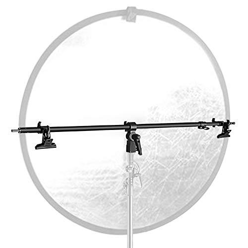 Neewer Studio Vídeo reflector Holder Brazo-39.7cm/101cm retráctil telescópica barra cruzada con 2piezas abrazaderas para soporte de luz, reflectores, producto de fondos para fotografía de retrato