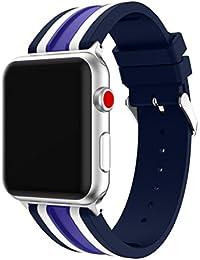 Magiyard Para Apple Watch Series 3 42mm/38mm, Correa de Deportes de reemplazo de Silicona (42mm, Azul)