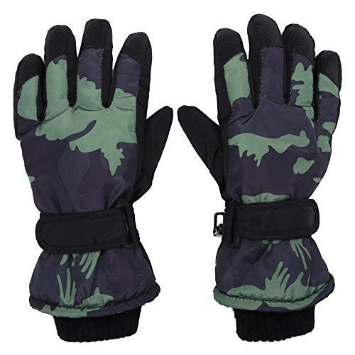 Eeayyygch Handschuhe für Jungen mit Camouflage-Muster, dick, warm, für Herbst und Winter,...