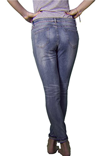 Madonna Damen Jeans Boyfriend destroyed 10-553 Blue-Denim
