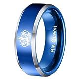 Coniea 6MM Verlobungsringe Damen Her King und His Queen Ring für Frauen Ohne Nickel Ringe Blau Größe 57 (18.1)