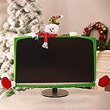 caijianscvx Copertura del computer portatile di Natale Monitor fascia elastica delle decorazioni di Natale Renna Monitor confine copertina elastico