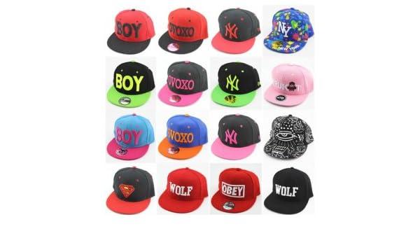 Gu BOY hip-hop di estate del cappello del berretto da baseball del cappello  OBEY ovoxo bordi piani di marea erano donne  Amazon.it  Sport e tempo libero 83020da9a82f