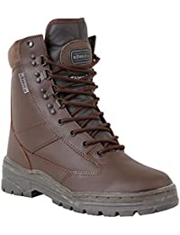 Zip Zap Zooom Army Combat Military Leather Army Combat Patrol Boot Brown Tactical All Sizes Cadet