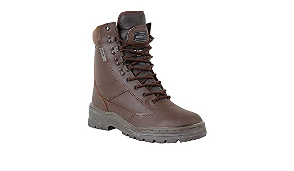 Zip Zap Zooom Army Combat Military Leather Army Combat Patrol Boot Brown Tactical Cadet