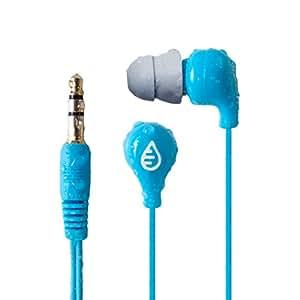 Waterfi Waterproof Short Cord Headphones for Swimming, Surfing, and Running