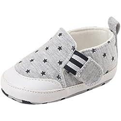 Zapatos de bebé SMARTLADY Zapatos del antideslizante para Recién nacido Niña Niño (0-6 meses, Gris)