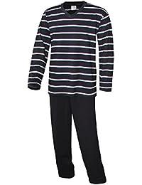 Herren Pyjama lang Herren Schlafanzug lang Hausanzug Herren aus 100% Baumwolle Model Vintage