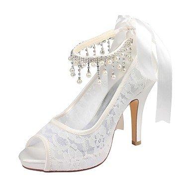 Wuyulunbi@ Scarpe donna raso elasticizzato estate della pompa base scarpe matrimonio Stiletto Heel Peep toe Crystal per Party & abito da sera Un