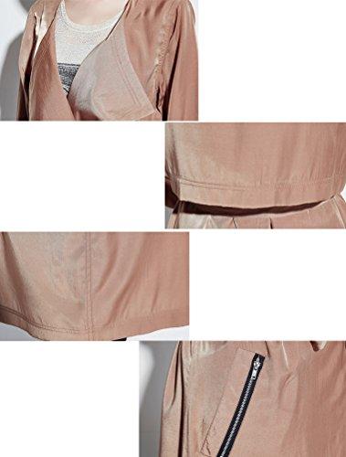 MatchLife Damen Langarm Parka Waistband Mantel Style3-Khaki