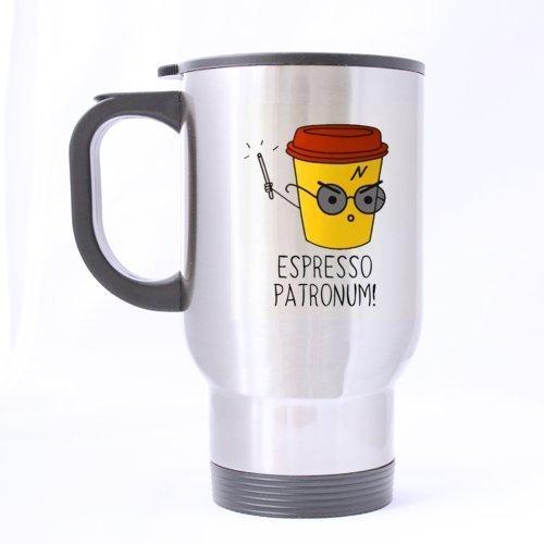 Generic Design unique à expresso patronum Harry Potter Custom mophing Tasse Double Côtés Imprimé spécial Custom Tasse de voyage tasse à café