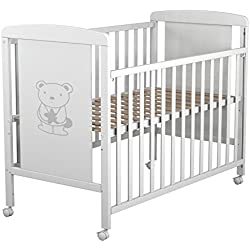 Star Ibaby Dreams Sweet - Cuna de bebé 8 posiciones. Lateral abatible. Color blanco.